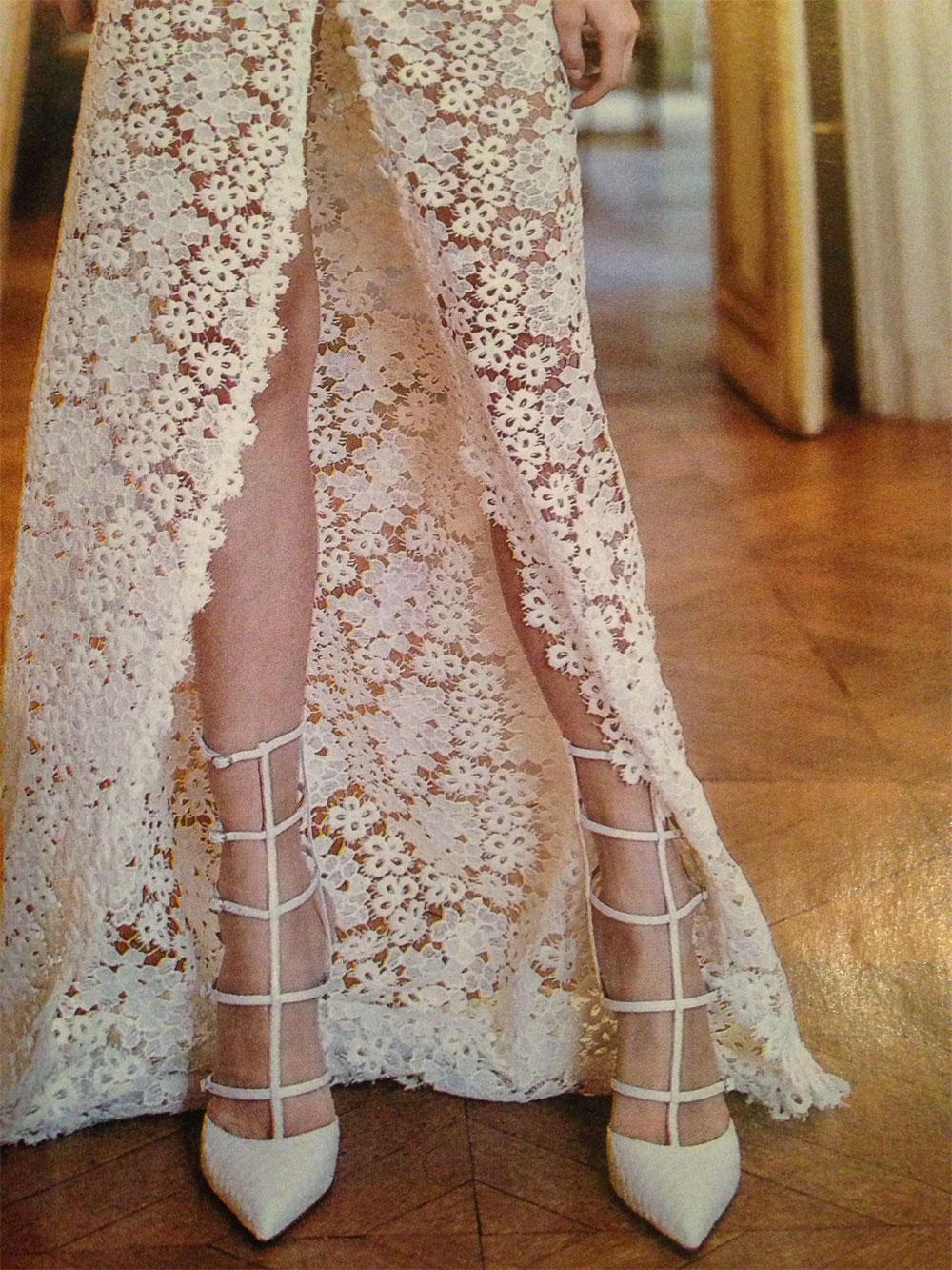 Shooting robe coture pour le magazine MARIAGES